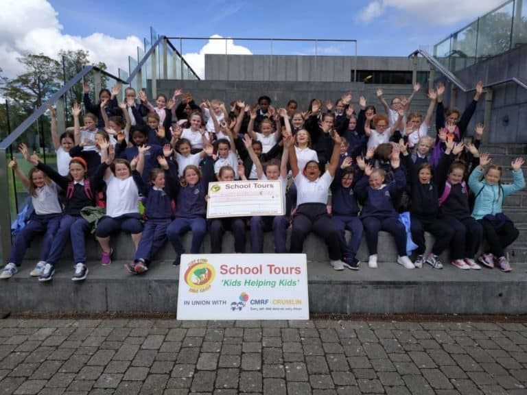 Primary school kids at school tour in Cork