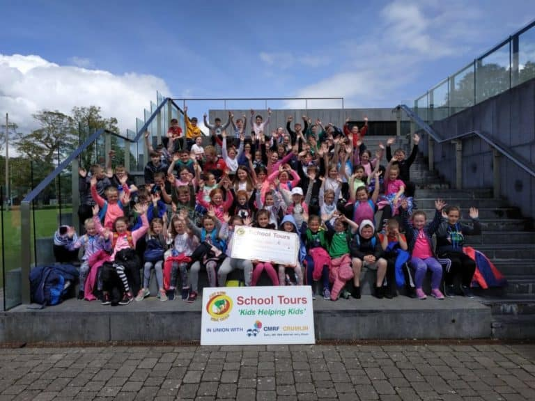 Primary school kids at school tour in Limerick