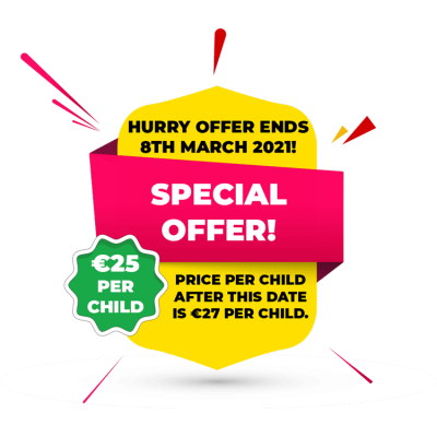School Tour Special Offer 2021. 25 euro per child before ,march 8th 2021.